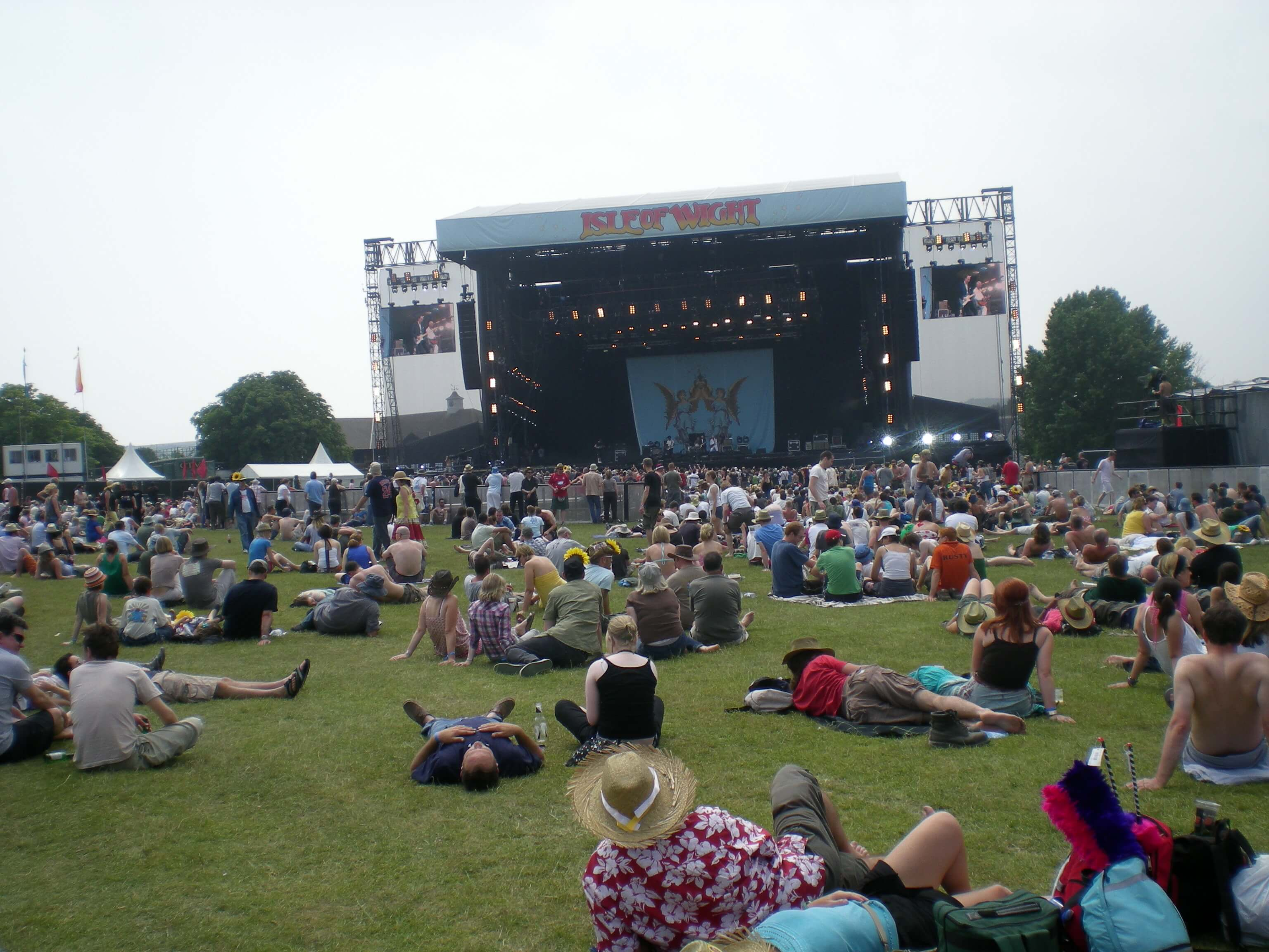 Photograph of the Isle of Wight Festival