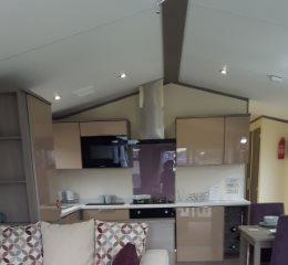 Photograph of a caravan interior