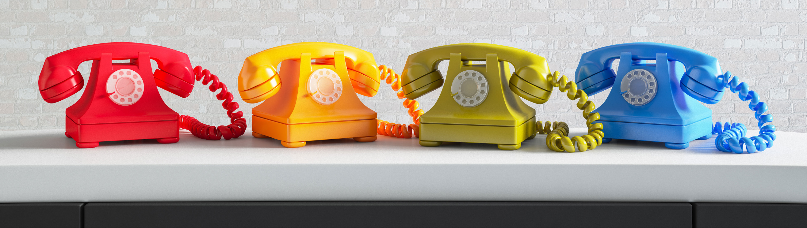 Colourful telephones