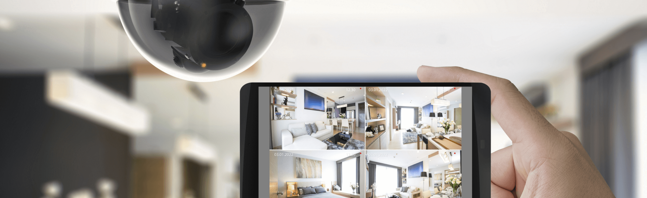 Smart security camera and smartphone