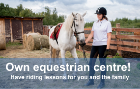 Own equestrian centre!