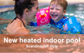 New heated indoor pool
